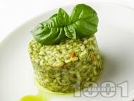 Рецепта Зелено ризото с броколи и спанак